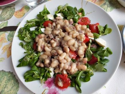 Ensalada alubias anchoas 1