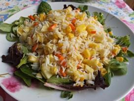 Ensalada arroz fruta verdura 2