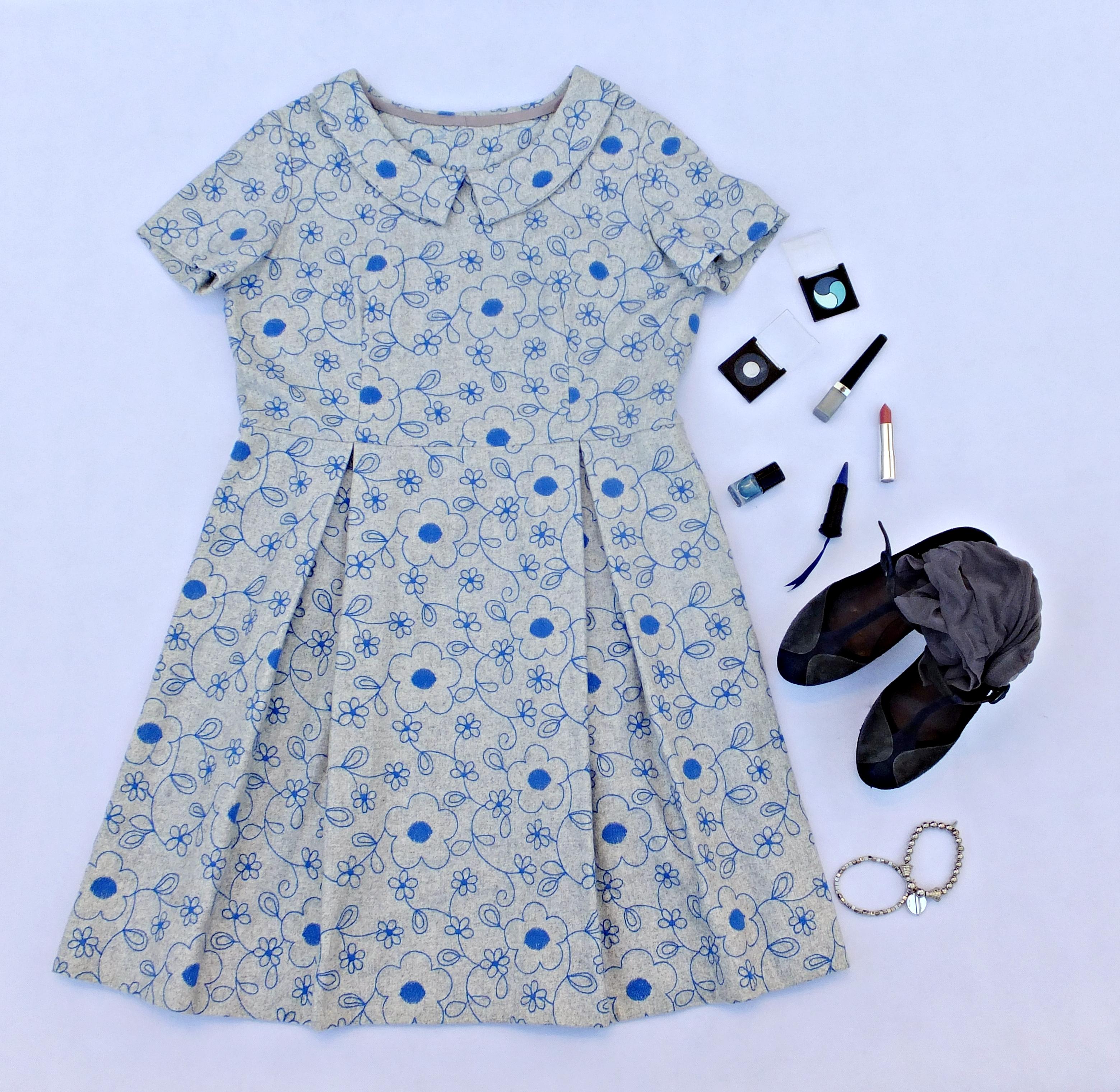 Vestido franela bordado 2