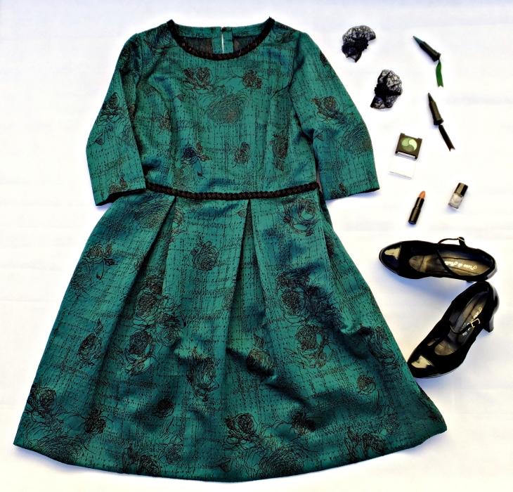 Vestido verde negro 2
