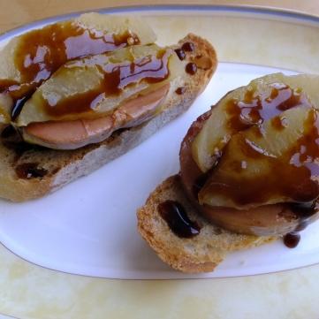 Tosta foie manzana D