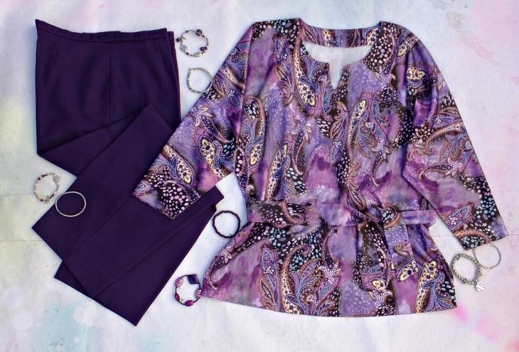 pantalón morado blusón 2