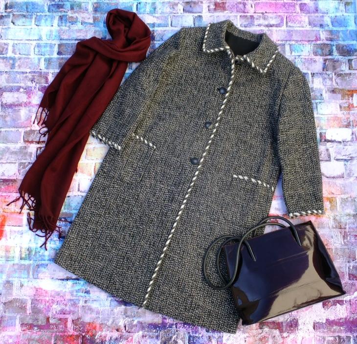 Abrigo tweed gris 5
