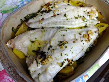 Dorada horno patatas 1