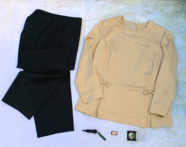 Pantalón verde blusón amarillo 5