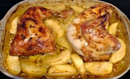 Pollo manzana piñones 9