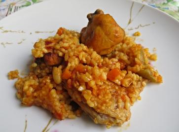 Arroz pollo horno 5