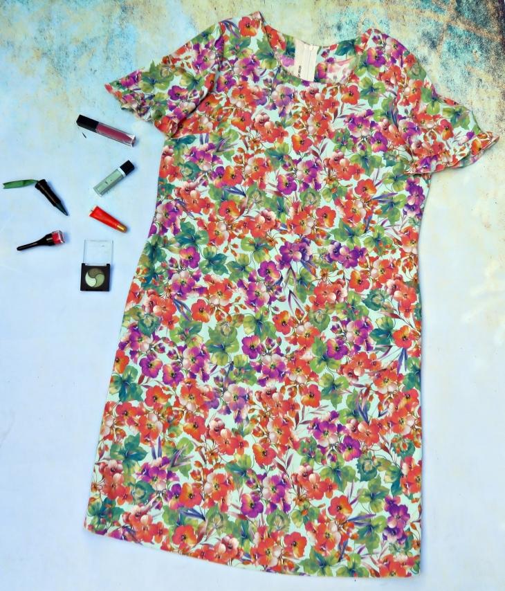 Vestido flores lana 1