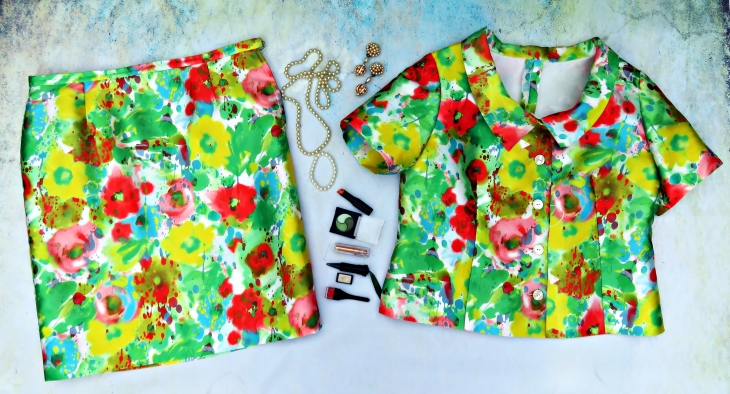 Conjunto verde flores 4