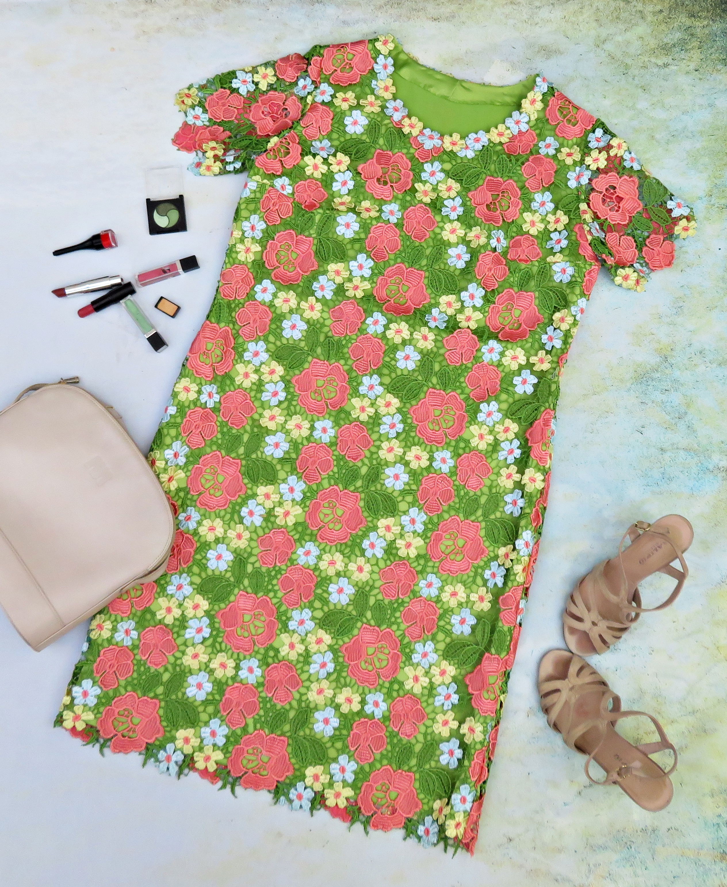 Vestido guipur verde 2