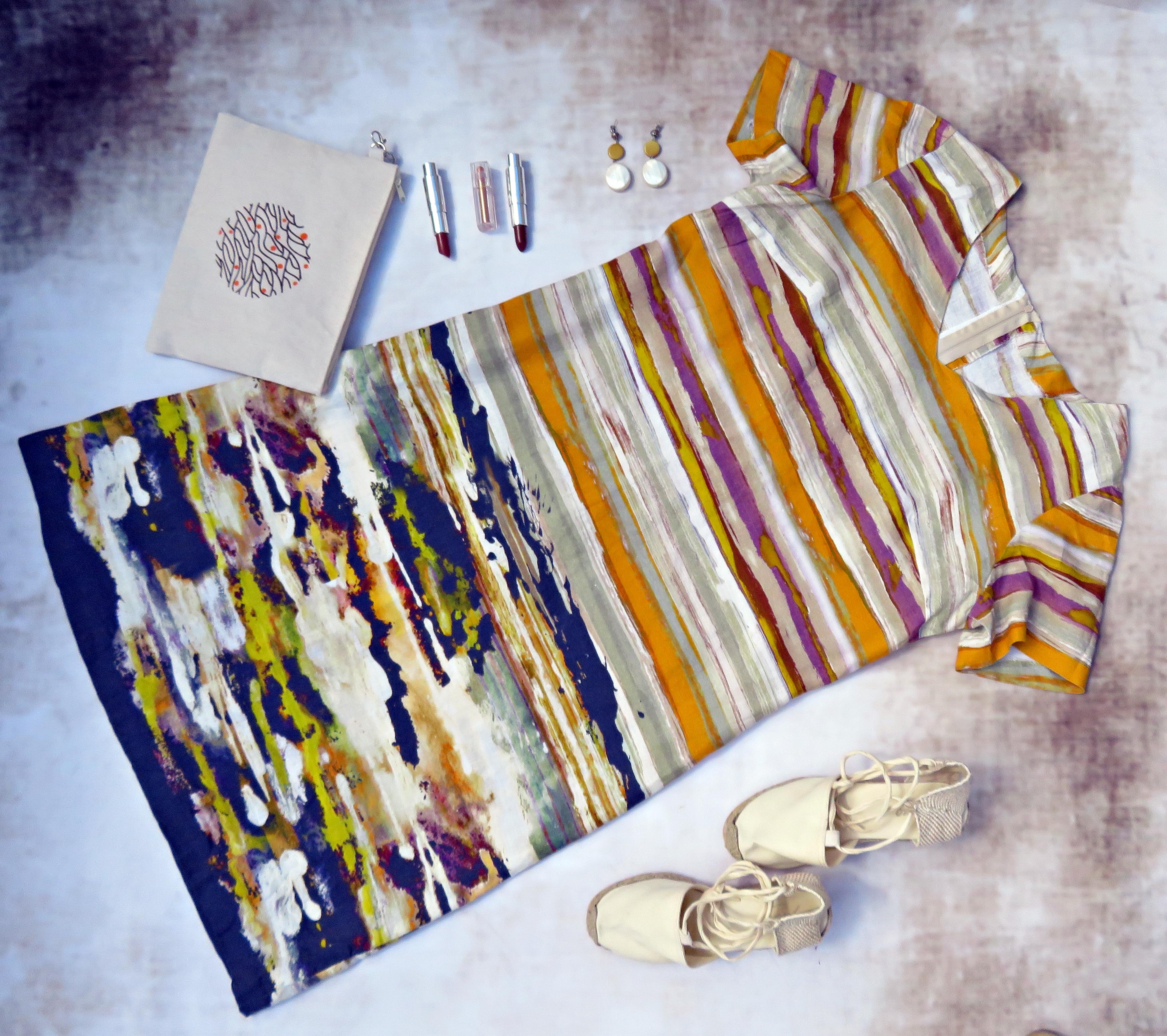 Vestido lino rayas 3