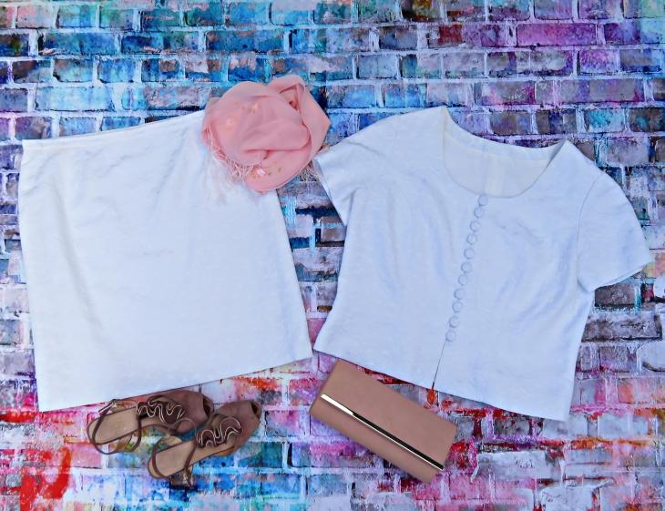 Blusa falda blanca 1