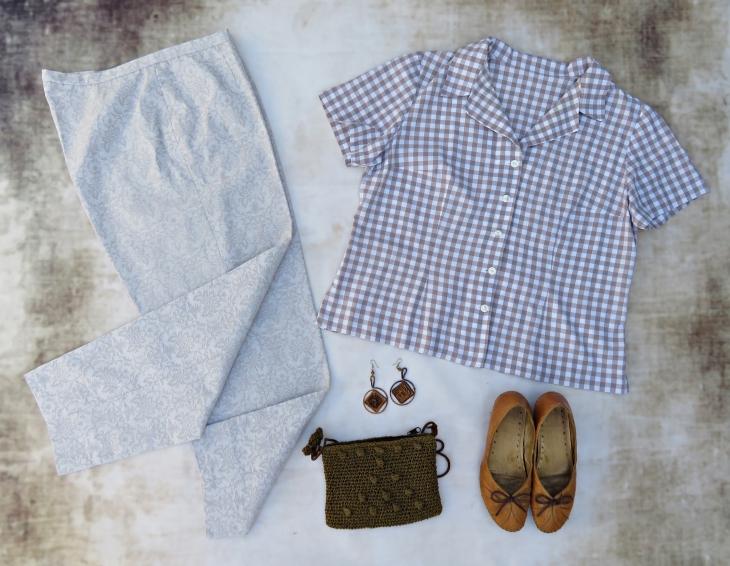 Blusa pantalón beig 2