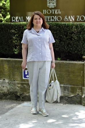Blusa pantalón beig 3