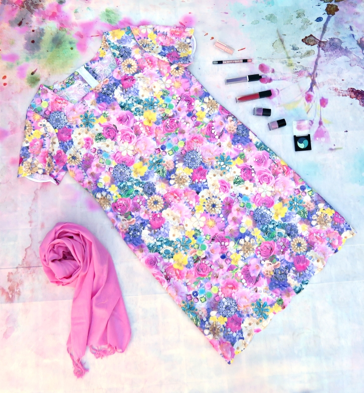 Vestido troquelado flores 1