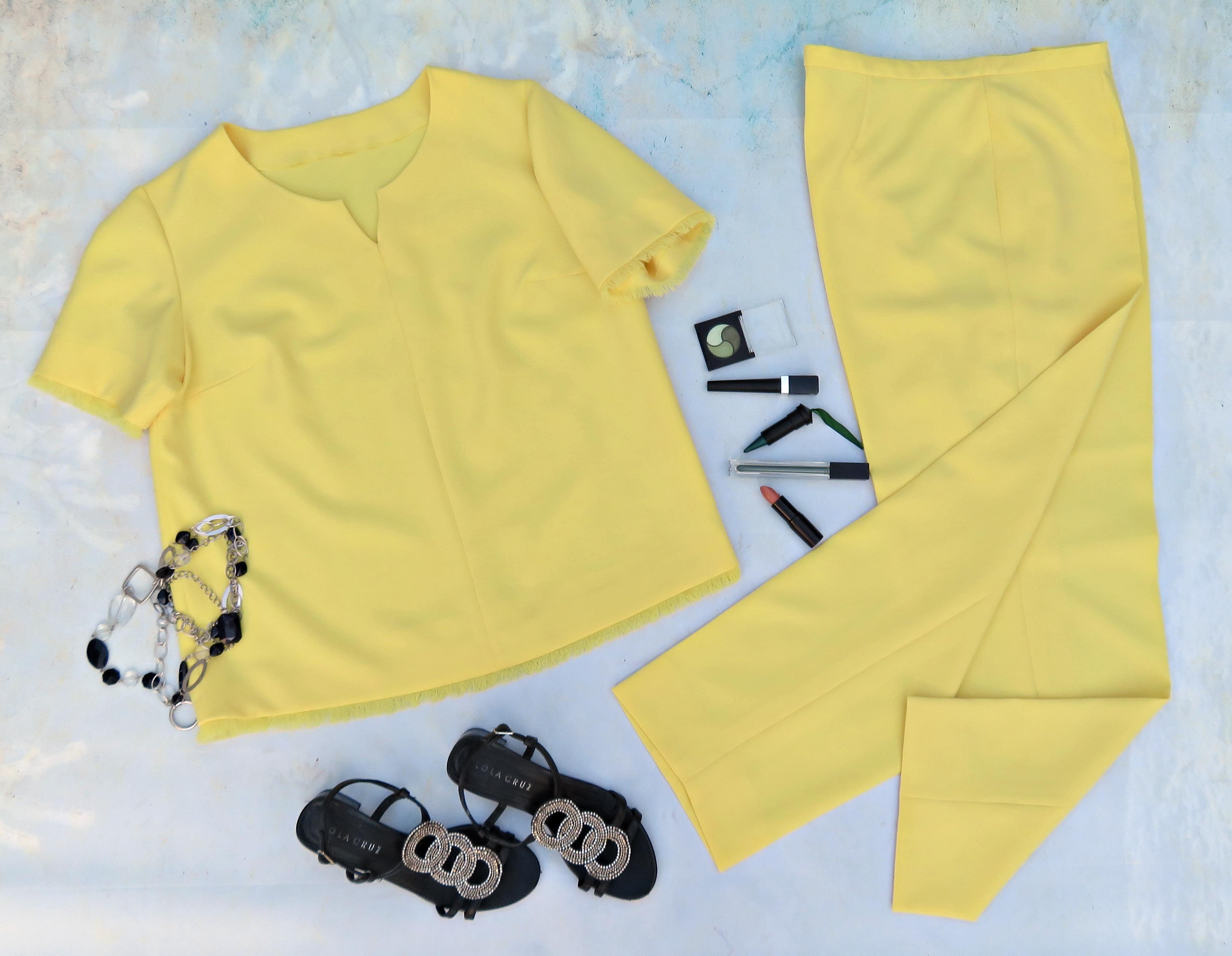 Blusón pantalón amarillo 1