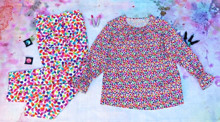 Blusón Pantalón colorines 2