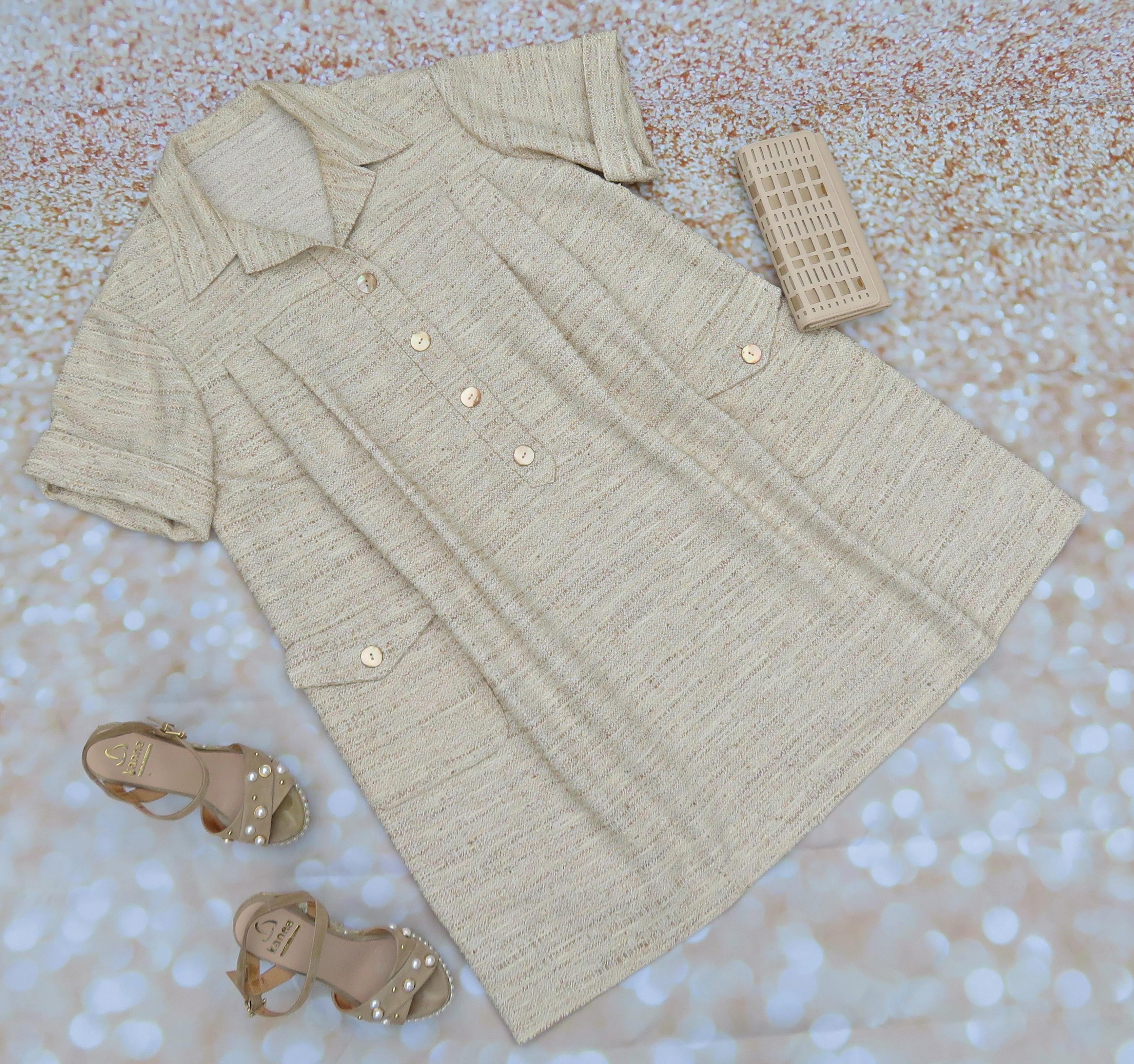 Vestido beig chanel 2