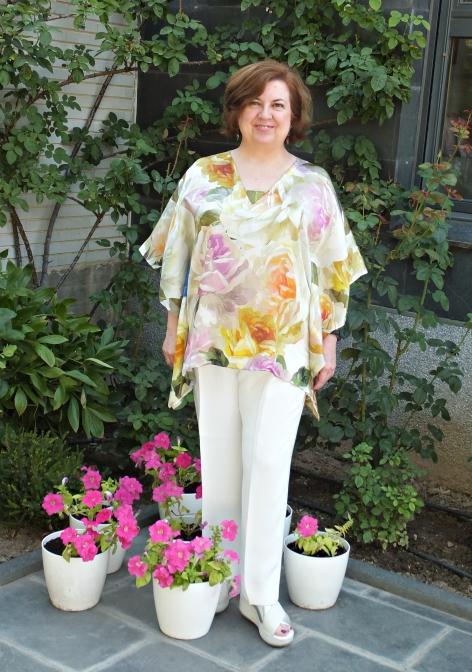 Blusón pañuelo flores 5