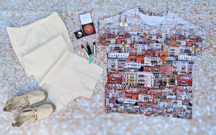 Camiseta veneciana pantalón blanco 2