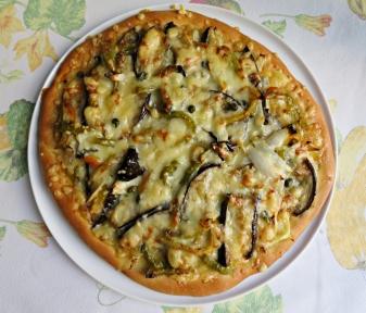 Pizza verduras asadas 4