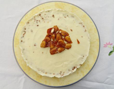 Tarta helada nata guirlache 1