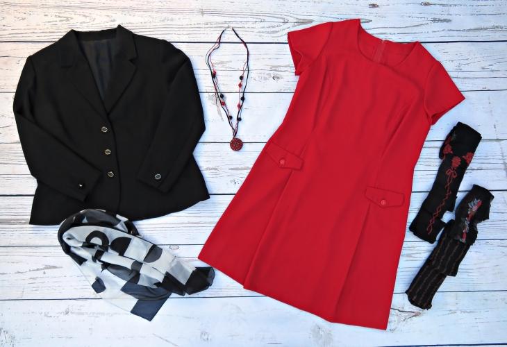 Vestido rojo corta 1